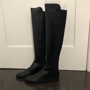 Stuart Weitzman The 5050 Mainstay Black Nappa boot